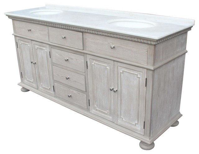 72 Double Sink Chest White Cream Marble Farmhouse Bathroom Vanities And