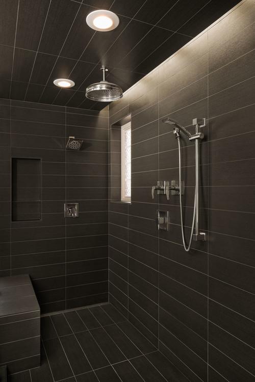 in shower lighting. in shower lighting h