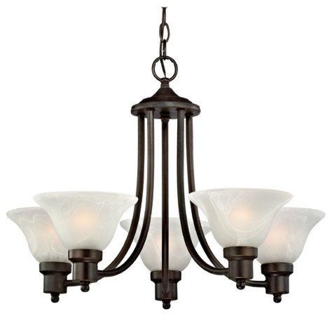 Traditional Bolivian Bronze Chandelier With Alabaster Glass Shades – Bronze Chandelier with Shades
