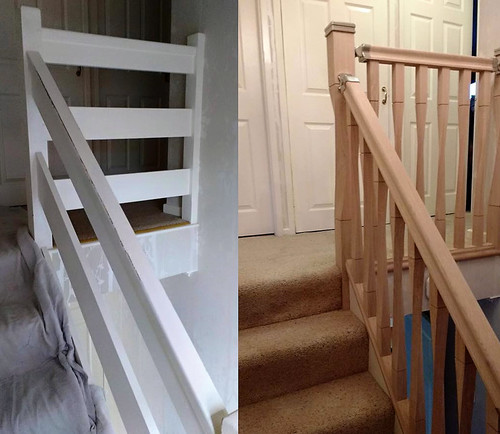 Before And After Staircase/ Banister Shaw Stairs Ltd.