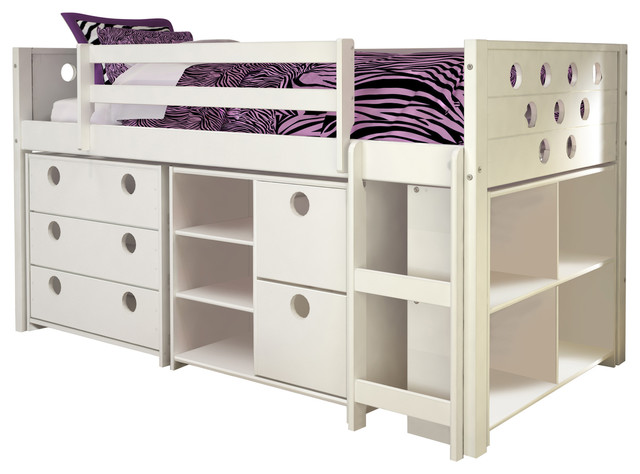 Garrison Low Loft Bed Twin Contemporary Kids Beds By Donco