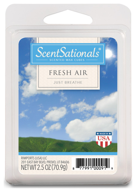 6 Scented Wax Cubes Clean Cotton 2.5 oz Fragrant Wax Melts