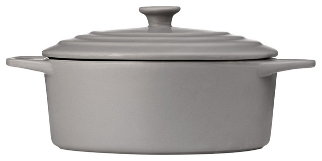 Oven Love Classic Casserole Dish With Lid, Gray, Large.