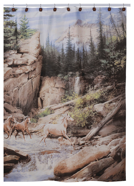 Horse Canyon Shower Curtain Rustic Shower Curtains