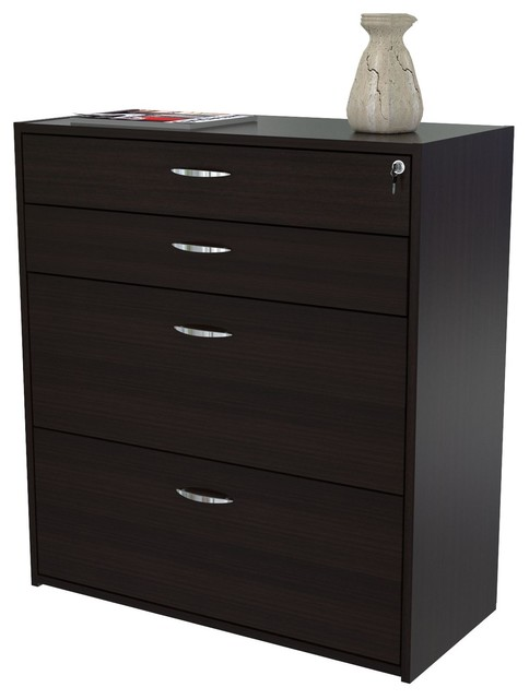 4-Drawer Storage Filing Cabinet - Contemporary - Filing Cabinets - by Michael Anthony Furniture