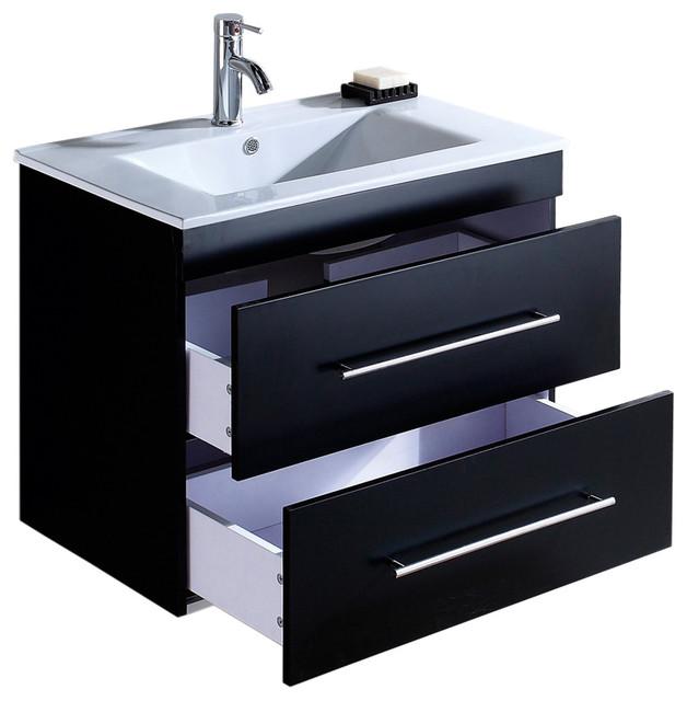 Emotion Casa Infinity 750 Bathroom Furniture, 80 cm, Black Semi-Gloss