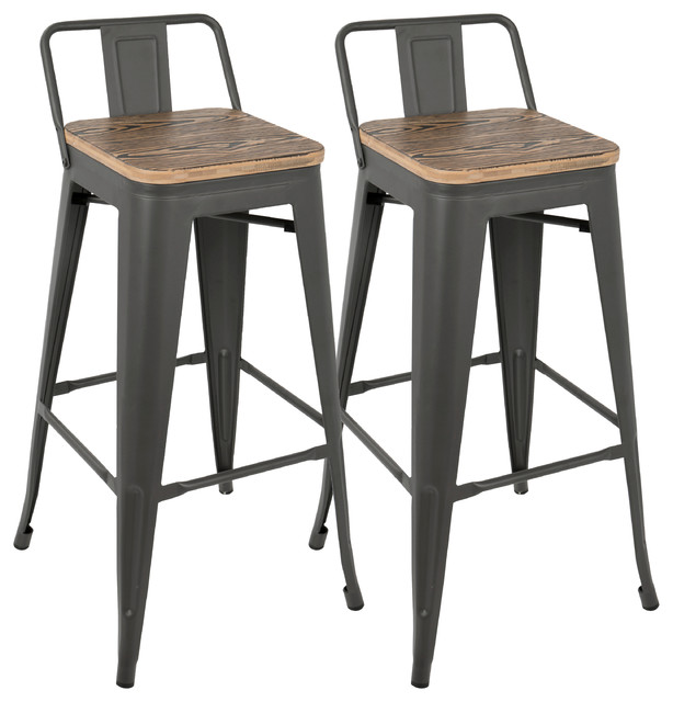 Oregon Low Back Bar Stool Industrial Bar Stools And