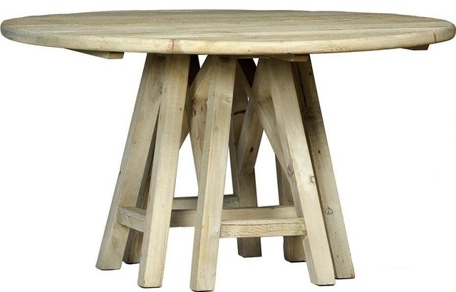 Dining Table Dovetail Madison Round Trestle