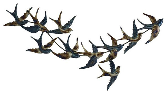 Metal Bird Wall Decor Contemporary Metal Wall Art