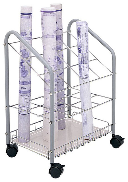 Pemberly Row Tubular Steel Wire Roll File 20 Compartments