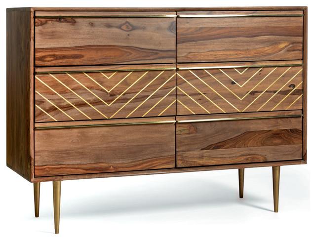 Starke Mid Century Modern Dresser With 6 Drawers