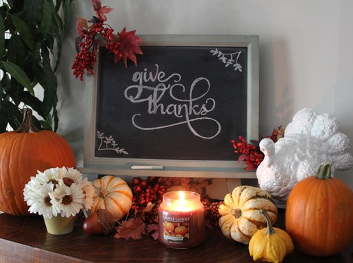 Thanksgiving Chalkboard Display by Chalk it Up Decor