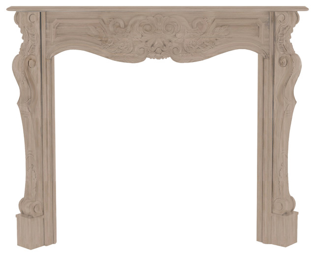 Bouvier Fireplace Mantel, Natural, Small.