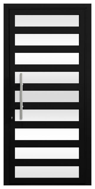 "Maya Aluminum Door, 32""x81"", Dark Bronze/black Anodized."