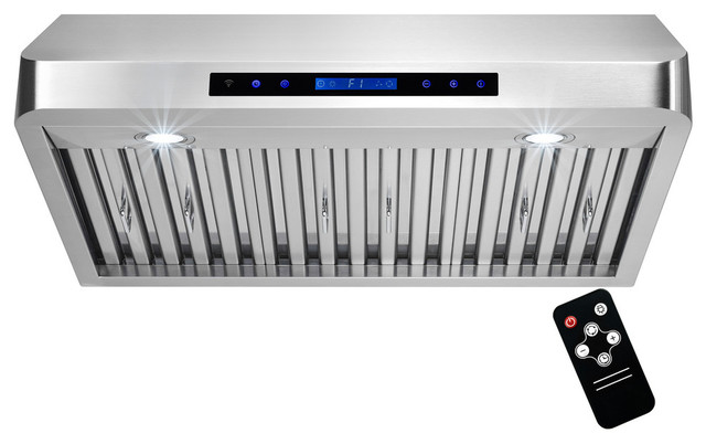 30 Stainless Steel Under Cabinet Range Hood Touch Panel Vent With Remote.
