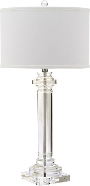 "Nina 30"" Crystal Column Lamp."