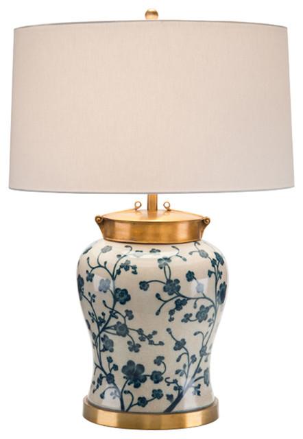 John Richard Blue Dogwood Table Lamp Jrl 9001 Transitional Table