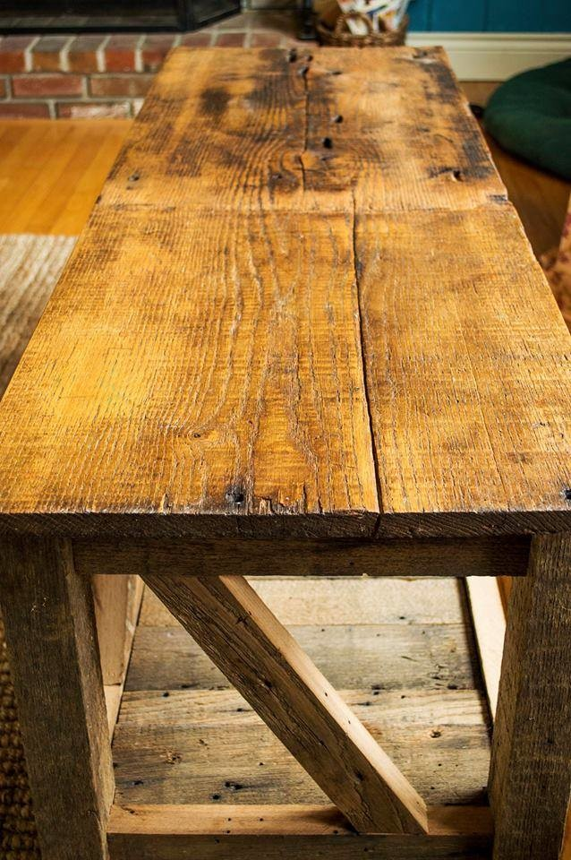Reclaimed Oak and Chestnut Coffee Table