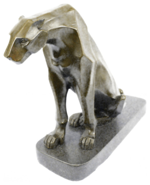 Bronze Figurines For Sale hey moore modern art abstract jaguar panther cougar lion bronze