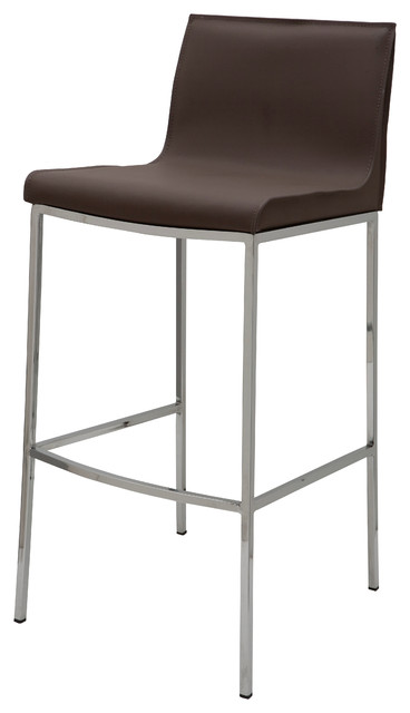 Colter Leather Stool Contemporary Bar Stools And