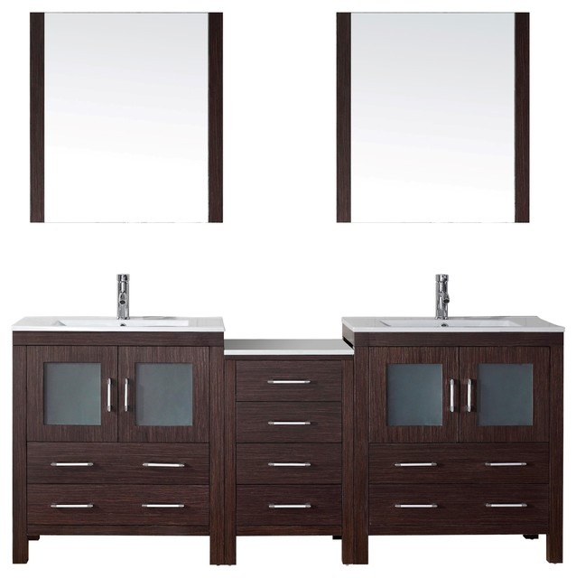 78 double vanity espresso ceramic modern bathroom vanities and sink