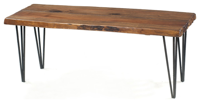 Live Edge Table Bench Contemporary Coffee Tables Chicago By Michael Scott Furniture