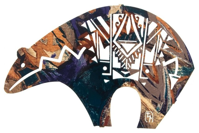 Southwestern bear metal wall art 14 rustic artwork for Native american furniture designs