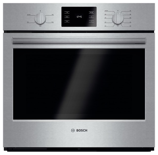 """Bosch 30"""" Wide Electric Single Wall Oven, Stainless Steel"""