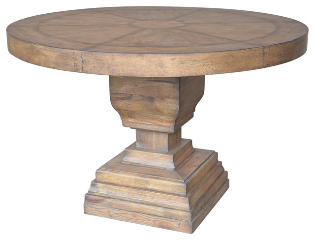AampB Home Wooden Pedestal Dining Table 48x31