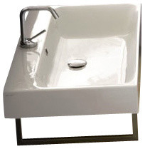Cento 3533 Wall Hung Or Counter Top Ceramic Sink 31.5 X 17.7.