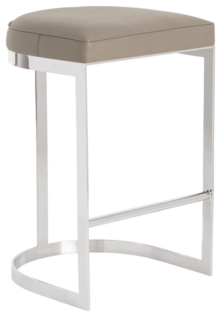Arteriors Howell Gray Leather Bar Stool contemporary-bar-stools-and-counter-  sc 1 st  Houzz & Arteriors Howell Gray Leather Bar Stool - Contemporary - Bar ... islam-shia.org