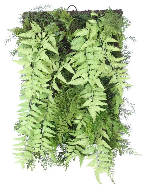 Fern Artificial Plant Wall Accent, 41x61 cm