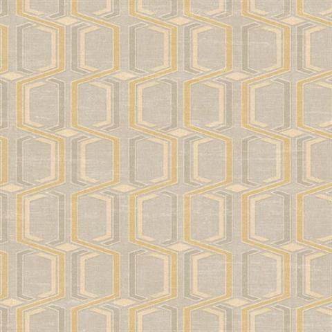 Elegant Wynnewood Geo Striped Wallpaper With Mid Century