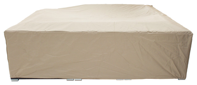 All Weather Outdoor Furniture Covers In Beige   Heavy Duty Patio Furniture  Cover Traditional Outdoor