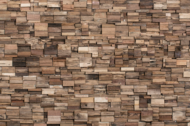 reclaimed wood tiles, days, 10.76 sq. ft. - rustic - wall panels