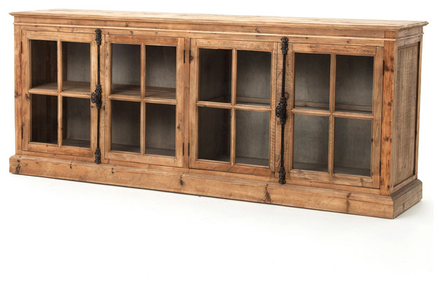 Marin French Country Reclaimed Pine Sideboard Cabinet Traditional Storage  Cabinets