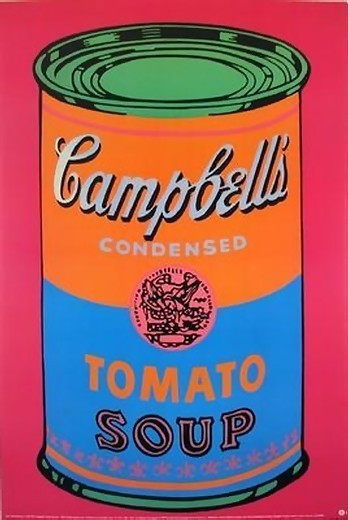 authorized original andy warhol campbell s soup can art print modern prints and posters. Black Bedroom Furniture Sets. Home Design Ideas