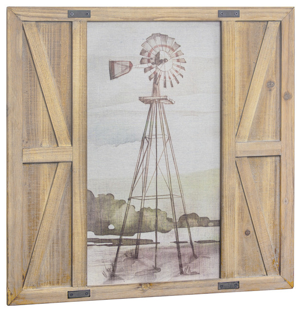 Windmill Print On Canvas Barn Door Wall Art Decor Farmhouse Prints And Posters By American Inc Houzz