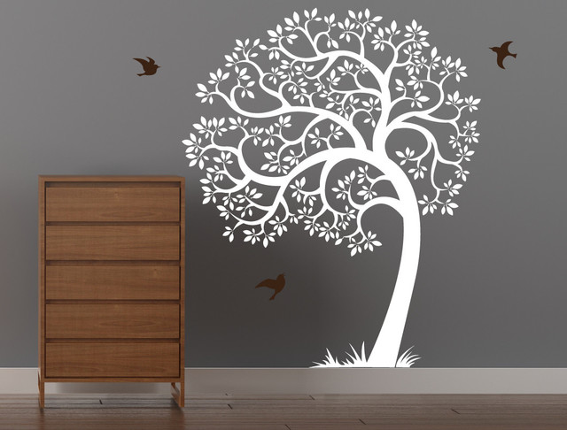 Singing Tree Wall Decal Contemporary Wall Decals
