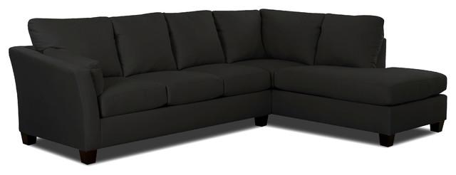 Sienna Chaise Sectional Sofa, Onyx.