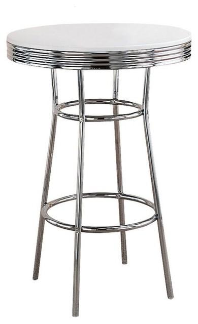 Retro Soda Fountain Bar Table White