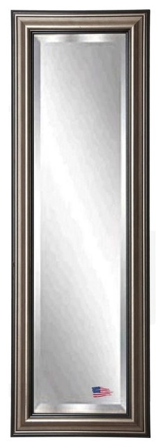 """American Made Antique Silver 26""""x64"""" Full Body Beveled Mirror."""