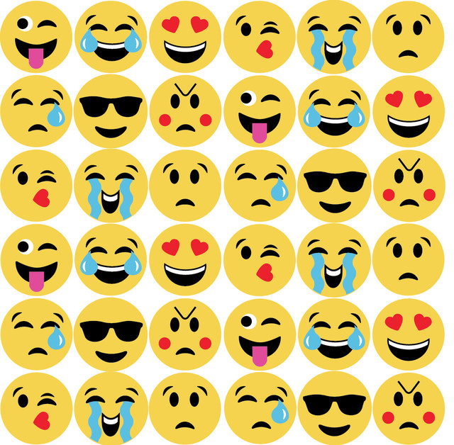 8d95328fa1 36 Emoji Fabric Wall Decals - Contemporary - Wall Decals - by Wall Dressed  Up