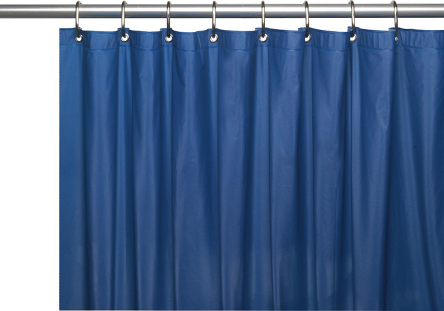 72 X 72 4 Gauge Premium Vinyl Shower Curtain Liner With Metal Grommets Traditional Shower