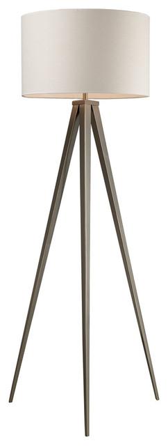 61 Salford Floor Lamp, Satin Nickel.