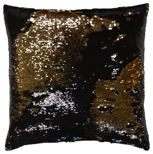 Hylee Pillow BlackGold Contemporary Decorative Pillows By Enchanting Black And Gold Decorative Pillows
