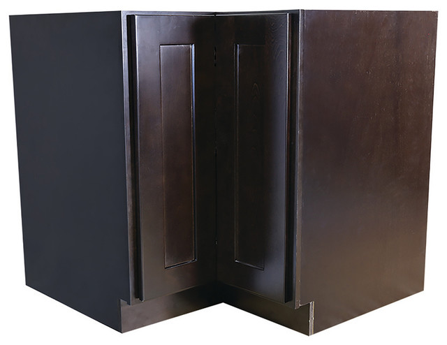 Brookings 36 Fully Assembled Kitchen Lazy Susan Cabinet, Espresso Shaker.