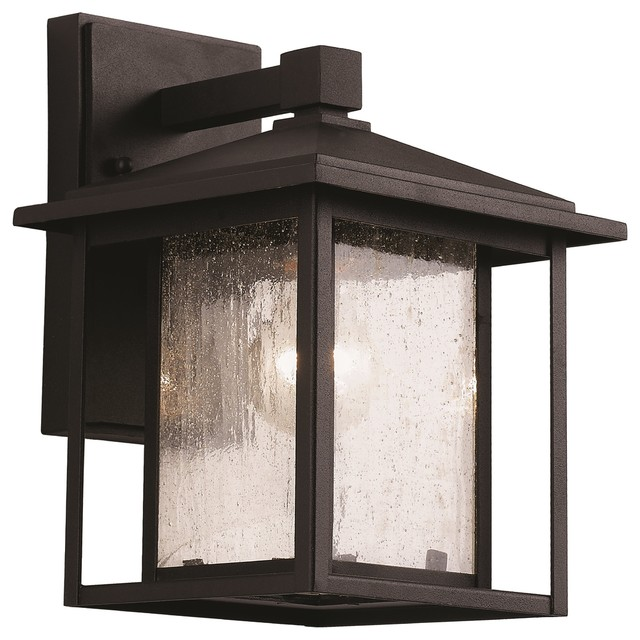 Signature 1-Light Outdoor Wall Lights, Black.