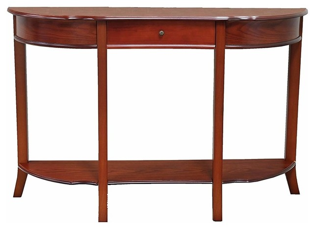 Modern Console Table In Solid Wood With