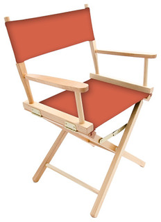 """Gold Medal 18"""" Natural Contemporary Director's Chair, Adobe"""